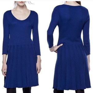 Thakoon Blue Sweater Dress with Sleeves